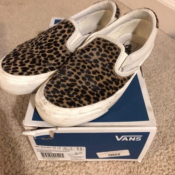 Vans Shoes   Vans Vault Og Slip Leopard